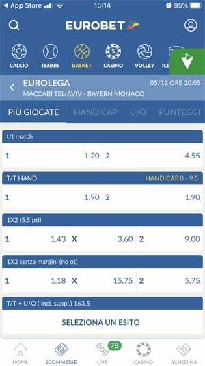 applicazione eurobet scommesse android