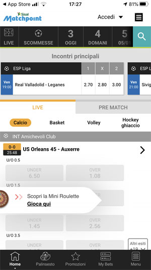 app sisal match point
