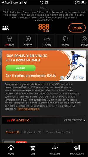 homepage app 888 sport